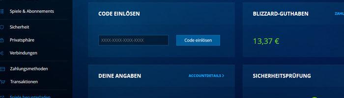 Battle,net Accountverwaltung