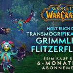 WoW: Grimmlingflitzerflügel – Transmogset für 6 Monate Spielzeit oder 20 Euro im Blizzardshop